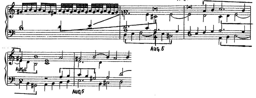 Example 16. Imitation of the second motive.