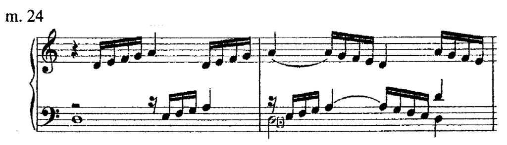 Example 33. Gruppos used in sequence. While the ornamentation in general is not sequential, Philips does at times seem to be somewhat redundant in his approach.