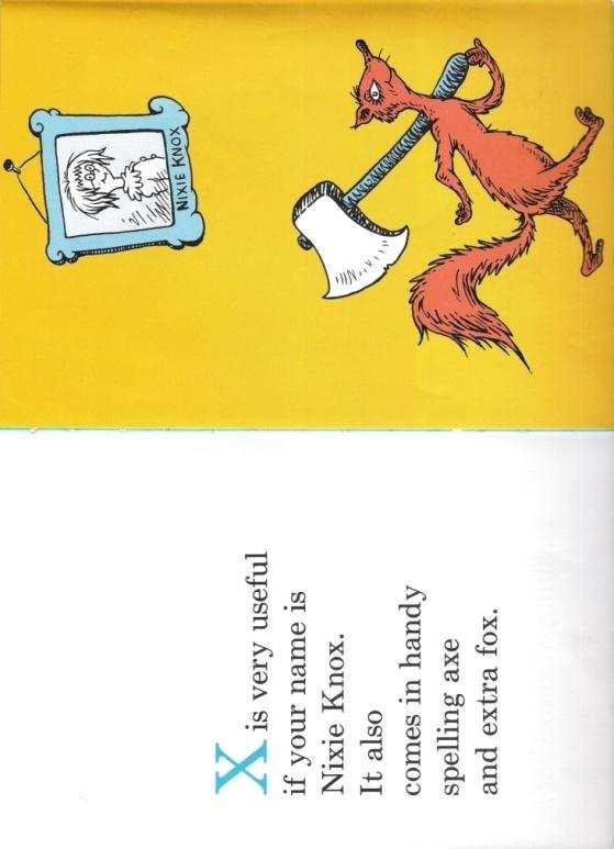 Framed picture on wall from Dr Seuss ABC with floor standing