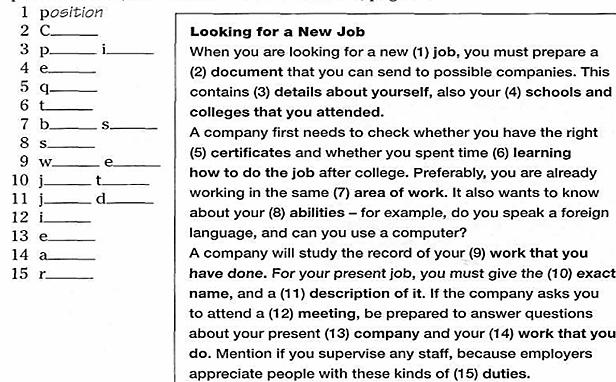 who is (3) applying/appalling for the job).