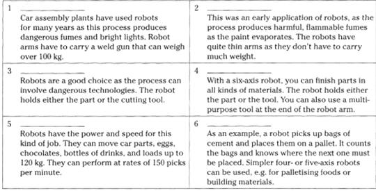 mechanical electric different mobile dangerous repeated specific compressed remote Robots are machines that are guided by (1) _ and electronic means.