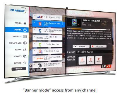 ) offers red button functionality offers linear TV, live radio channels, plus access to interactive TV and other service Using the HbbTV standard 1.