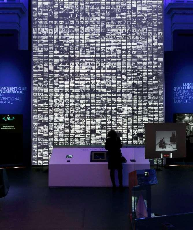 Photo: Wall of 1,422 films (Exhibition Lumière!