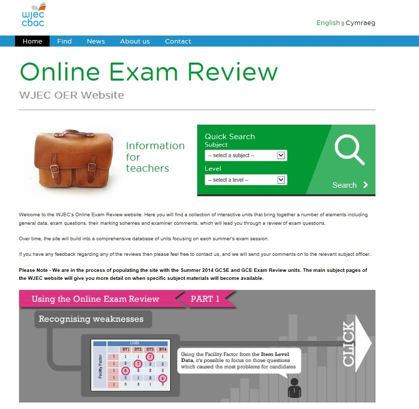 There is a handy how to guide on the OER site We also have our OER site (Online Examination Review)