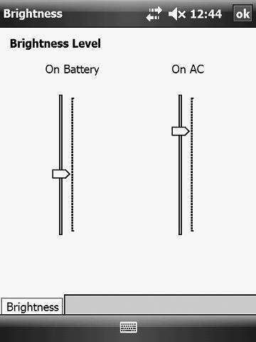 Adjusting Screen Brightness You can adjust the level of brightness of the backlighting on the screen for the programmer when it operates on battery power and external power.