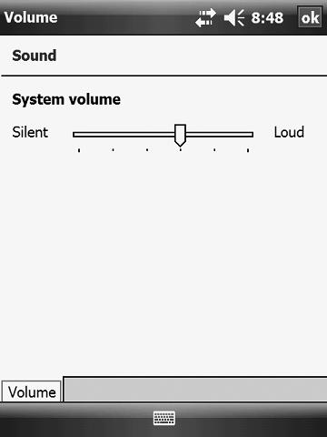 Adjusting the Volume To adjust the volume of the programmer, follow these steps: 1. On the Main Menu screen, tap Settings, then Volume.