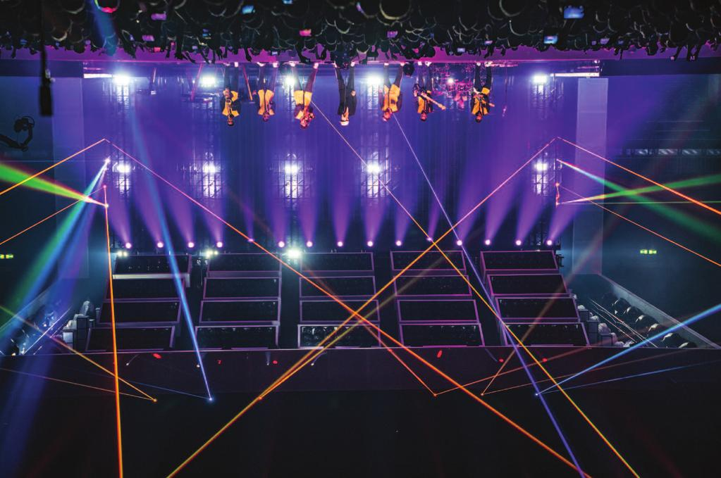 CONCERTS Illinois office of Solotech provided the video gear and IMAG camera package. The same video product is found on eight variously sized stage lifts.