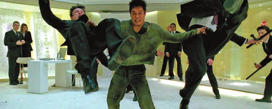 2 6b. Unleashed (France/U.S.A./Britain, 2005), with Jet Li (center), martial arts choreography by Yuan Wo Ping, directed by Louis Letterrier.