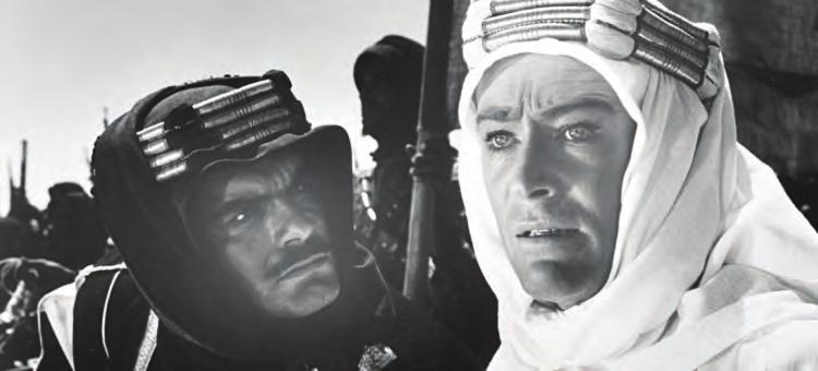 2 4a. Lawrence of Arabia (Britain, 1962), with Omar Sharif and Peter O Toole, directed by David Lean. The widescreen aspect ratio provides some big problems when transferred to a video format.
