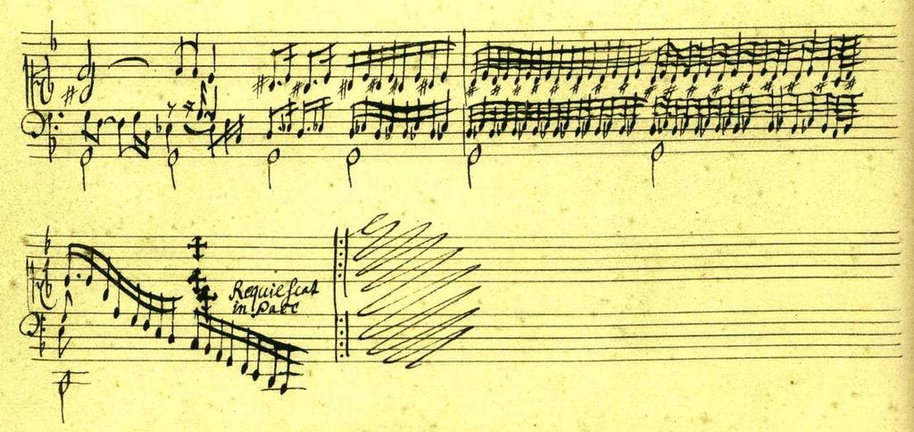 Example 12. Afflicted and Tombeau [sic] on the death of Mr. Blancrocher, made at Paris, played very slowly and with discretion (Tombeau for Blancrocher), beginning, from SA 4450 Example 13.