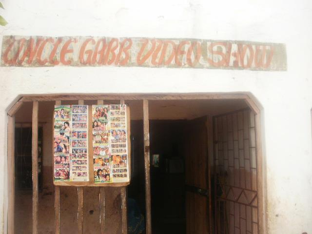 Fig. 1a: Outside view of Uncle Gabb Video Show, Blantyre, Malawi Fig.