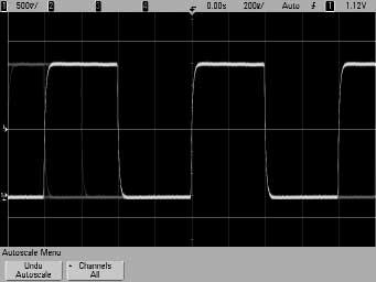 3 Lab Discovering an Infrequent Glitch with Fast Waveform Update Rates Capturing infrequent anomalies such as random glitches requires oscilloscopes with extremely fast update rates.