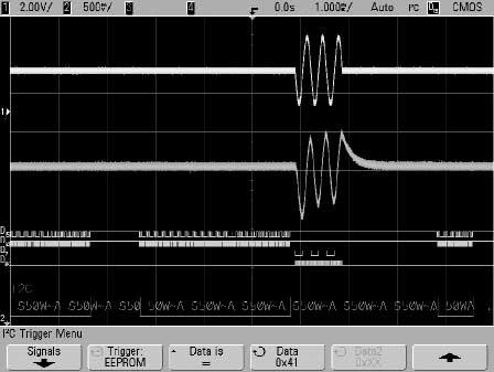 You can check the installed options on your scope at Utility > Service > About Oscilloscope. 8. Settings. Then press SCL (serial clock) and using the entry knob select D14. 9.