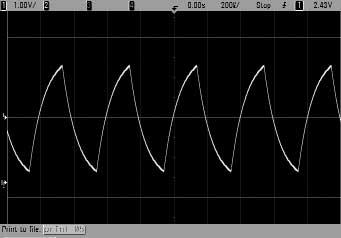 the Single key to make a single acquisition and stop the acquisition process. 4. Use the large Horizontal knob to zoom in on the waveform.