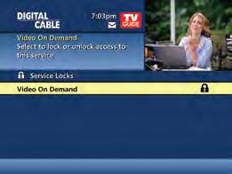 Parental Controls for On Demand Parental Control settings include On Demand programming.