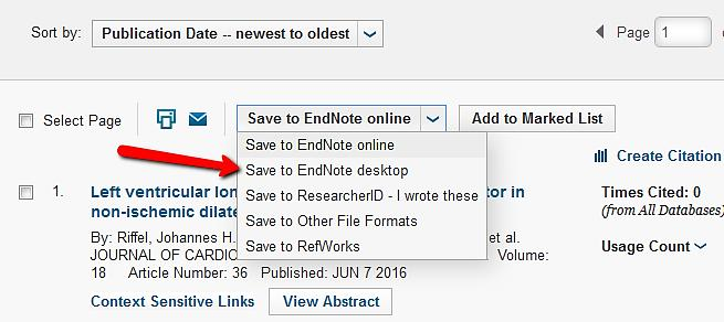 Please note, your EndNote Library must be open for the direct download of references.