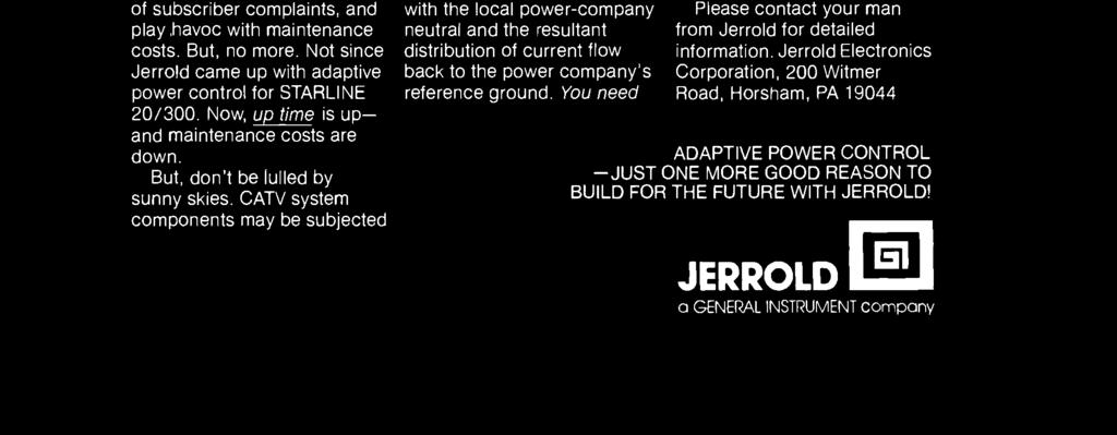 Jerrold Electronics Corporation, 200 Witmer
