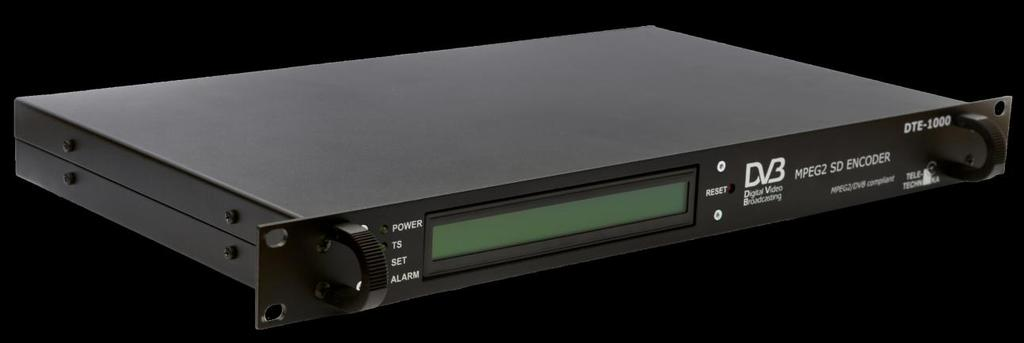 DTE-1000 MPEG2 Codec with IP and ASI PAL 625 video input, ASI and