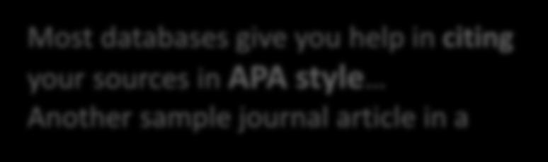 sources in APA style