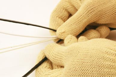 Blades will slit the cable jacket for easy access to components.