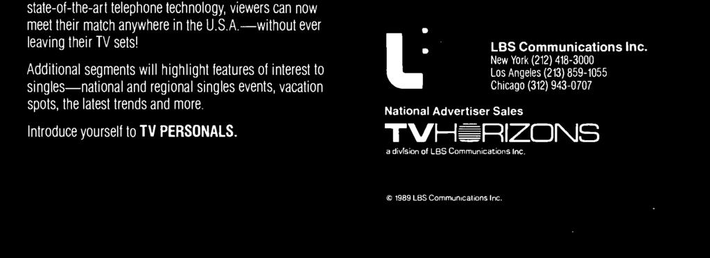TV PERSONALS -produced by Ernest Chambers Productions and distributed worldwide by