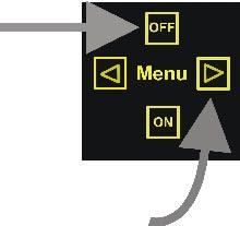 Press the left or right arrow button to change a function. The cursor indicates the selected function.
