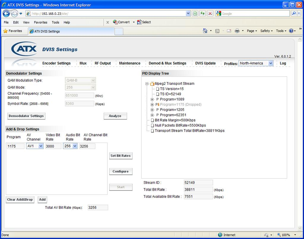 To enable Dynamic PSI Monitoring, first enable Add & Drop Mode, then select the Dynamic PSI Monitoring checkbox and click