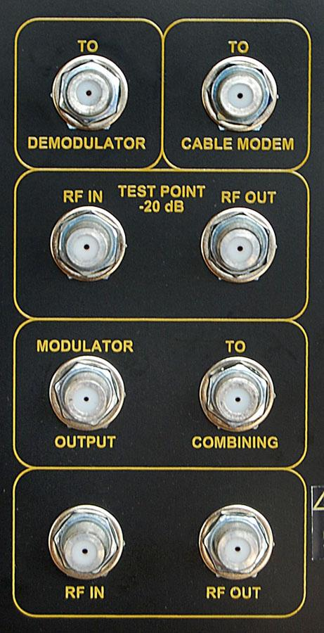 Figure 2: RF Outputs -20 db -10 db -20 db RF SWITCH QAM CHANNEL DELETION FILTER - DVISMCD* (OPTIONAL) RF SWITCH -20 db -20 db RF IN RF OUT RF IN TEST TO DEMODULATOR (PATCH CABLE) TO CABLE MODEM