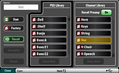 Channel libraries can provide a very quick and complete way to set a starting point before sound check once you have named your channels.