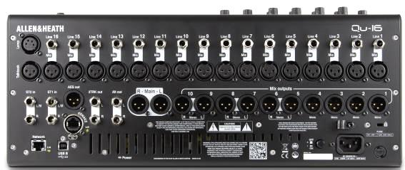 Qu-16 16 Mic/Line Qu-24 24 Mic/Line in 24 out, 22 in USB audio streaming 32 out, 30 in USB audio streaming 4 Group out Matrix out Qu-32 32 Mic/Line in 32 out, 32 in USB audio streaming 8 Group out