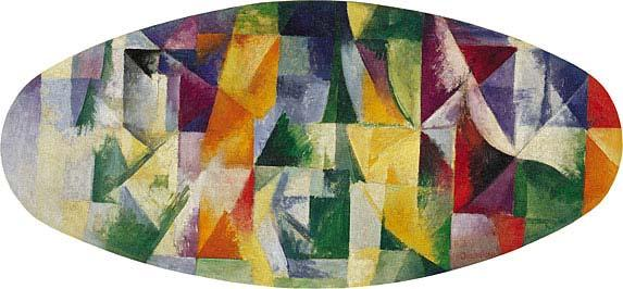 Robert Delaunay, Windows Open Simultaneously 1st Part, 3rd Motif, 1912 Delaunay: nature is imbued with rhythm that in its multiplicity cannot be constrained.