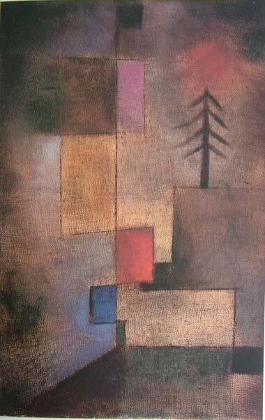 Little Fir-Tree Picture, 1922 The juxtaposition of three degrees of abstraction of a fir tree articulates the