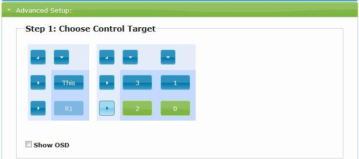 Green buttons are selected, blue buttons are unselected. b. Scroll down and locate Tearing Delay (us).