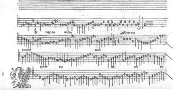 13-3 The second Agnus Dei (starting in the middle of the third system) from Josquin des Prez s Missa L homme armé super voces musicales as printed in Missae Josquin (Venice: Ottaviano Petrucci, 1502).