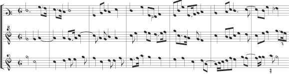 A few scattered predecessors aside (like the vielle players In seculum given in the Bamberg motet manuscript discussed in chapter 7), it was the earliest form of instrumental chamber music, in effect