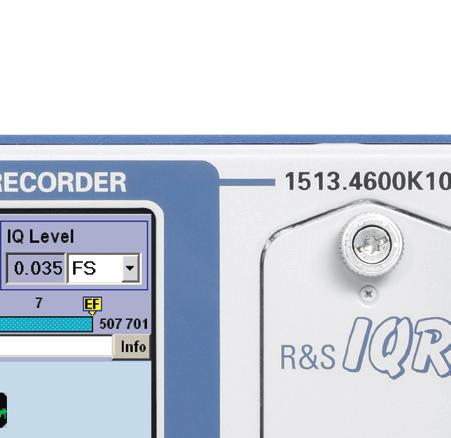 instruments that have the R&S Digital I/Q Interface, the R&S IQR