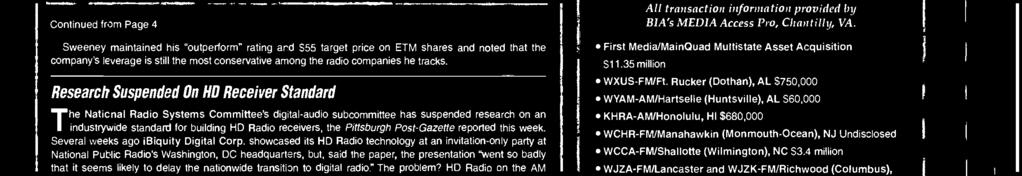 """ An ibiquity representative asked for comment told the paper that the problem is a ""short-term issue"" that will not delay HD Radio's rollout."