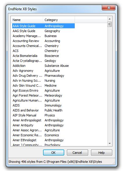 20 Changing a style within Word 2016 When you install EndNote X8 onto your computer, it automatically adds the necessary EndNote tab to the tools in your Word 2016 software.