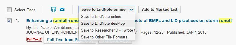 Adding references to your database You can search Swinburne library databases and then export the search results to EndNote. If you are off-campus, you will need to sign in using your SIMS account.