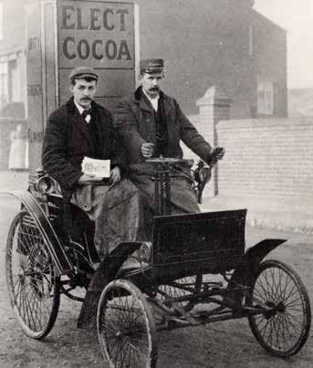 developing brand identity and loyalty. A Rowntree factory car, c.1897.