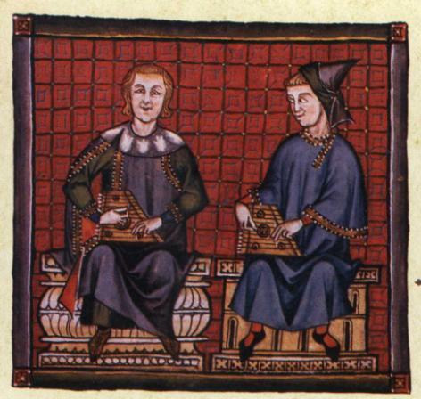 Hurdy-gurdy Psaltery Some instruments in Alfonso X s Cantigas de Santa Maria The Cantigas de Santa Maria are short pieces dedicated to Virgin Mary, composed around the second half of the 13 th