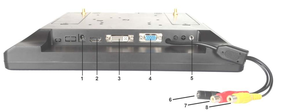 4. :Multi button In VIDEO/HDMI/DVI/VGA input state,volume down button. In RF state, Press button to enter the manual channel,to set BAND A/B/E/F transformation.