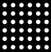 For example in the figure below, there are 36 dots altogether, which are at equal