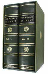 Edmund Burke Publisher LIMITED EDITION B18. HENNESSY, William M. Ed. by. The Annals of Lough Cé. A chronicle of Irish affairs from A.D. 1014 to A.D. 1590. Edited and with a translation by W.M. Hennessy.
