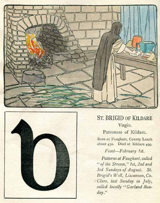 CHILDREN'S BOOK 5. [ALPHABET] An Alphabet of Irish Saints. English foreword by Sir Henry Bellingham. Irish foreword by Douglas Hyde.