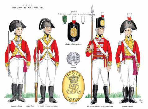 307. THOMPSON, F. Glenn. The Uniforms of 1798-1803. Foreword by Major General Patrick F. Nowlan. With colour illustrations. Dublin: Four Courts, 1998. Oblong quarto. pp. 63.