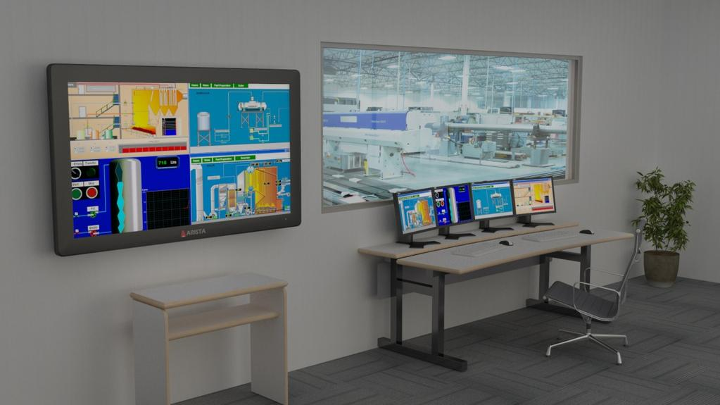 Multi-View Visualization Technology Control room environment have multiple LCD monitors across each workstation.