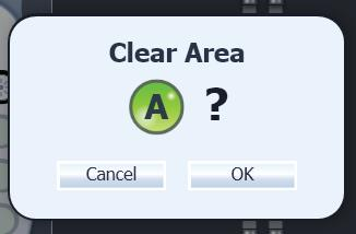 Programming the Patient Clearing an Area To clear an Area from a Program: 1. Select the desired Program from the Program Carousel. 2. Select the Area you wish to clear. 3.