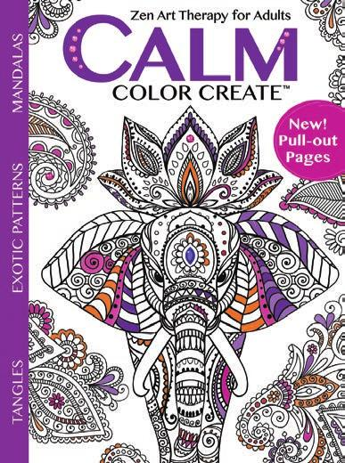 Calm Color Create is a therapeutic way for adults to soothe stress by focusing the mind and enhancing relaxation.