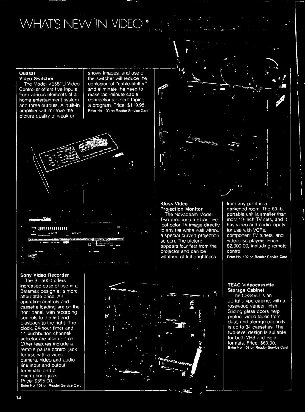 Maintenance Tape Recorder Preamp Interview Jimmy Miller Eviewed The Teac Wiring Color Code Picture Appears Four Feet From Projector And Can Be Watched At Full Brightness Oc